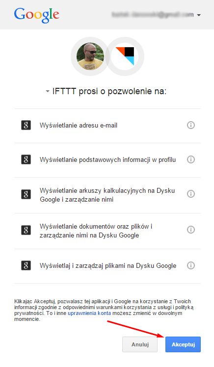 Synchronizacja ebookpoint.pl z Google Drive, OneDrive oraz Box - krok 8